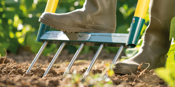 How can you till the soil and prepare your vegetable garden without suffering from backache ?